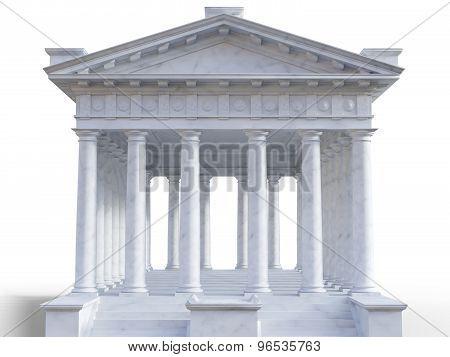 3d classical roman temple