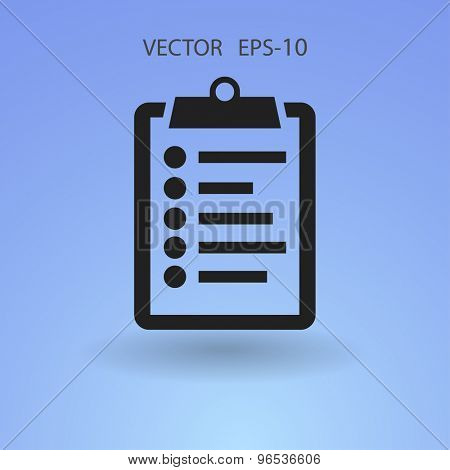 Flat icon of clipboard
