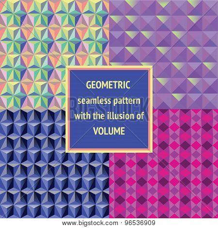 Set geometric seamless texture.