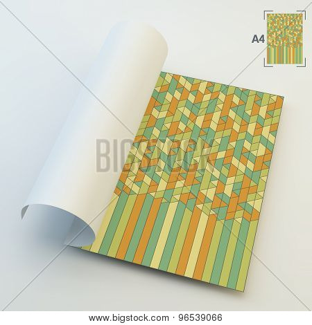A4 Business Blank. Abstract Geometric Background. Mosaic. Vector Illustration. Can Be Used For Advertising, Marketing, Presentation.