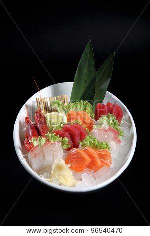 Round Plate Of Sashimi
