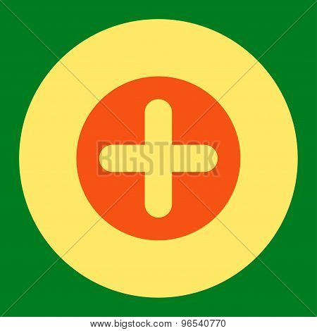 Create flat orange and yellow colors round button