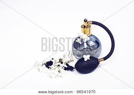 Women's Perfume On A White Background