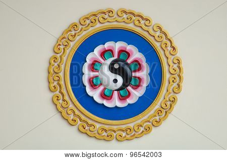 Colorful Yin-yang Sign In The Chinese Temple