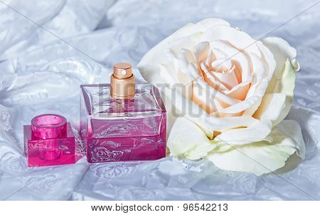 Tender Composition Of Parfume And Flower