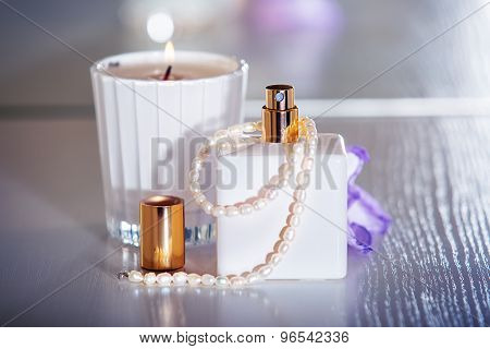 Women's Perfume With Pearls