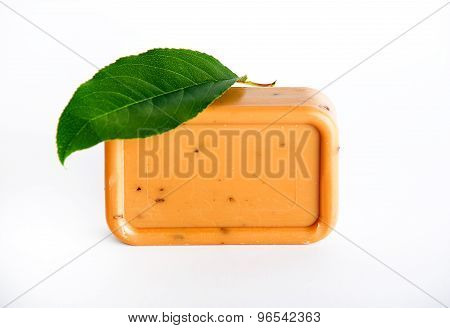 Natural Bay Soap On White Background