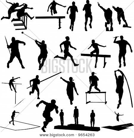 athletice silhouettes - vector