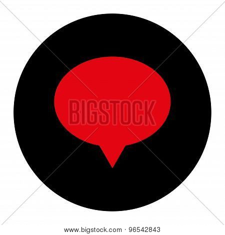 Banner flat intensive red and black colors round button