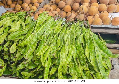 The Fresh Parkia Is Tropical Stinking Edible Beans, Thai Style Tropical Fruit