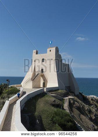 Coastal tower in Sperlonga, Italy