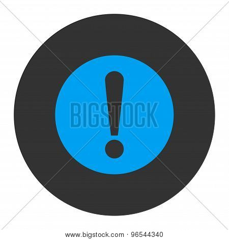 Problem flat blue and gray colors round button