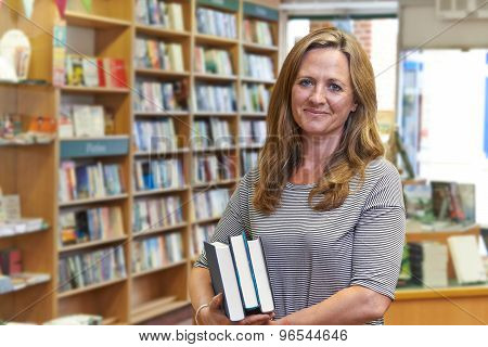 Portrait Of Female Bookshop Owner