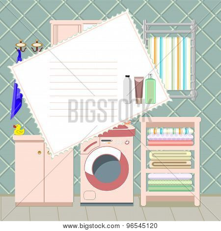 bathroom vector card