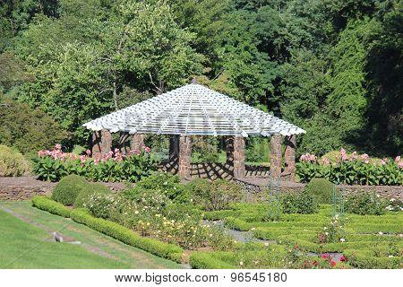 Gazebo And Rose Garden