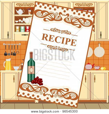 Blank for a recipe