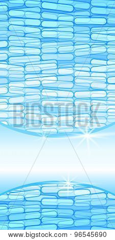 Abstract Blue Vertical Label Price Tag Title Page Booklet