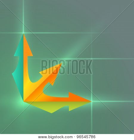 Arrow Infographics Presentation Template Gradient Background