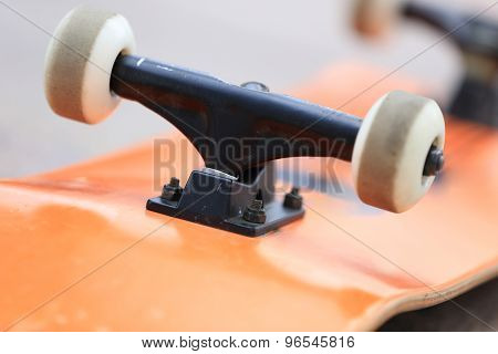 skateboard and wheels