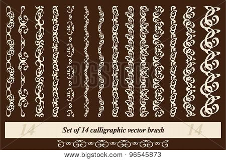calligraphic vector brushes
