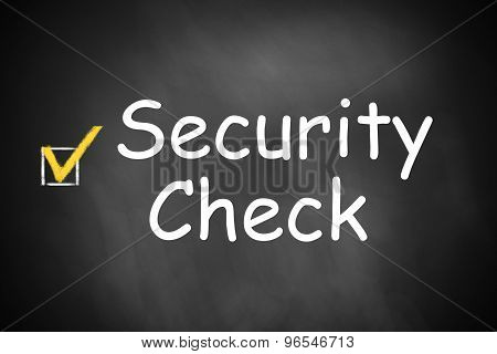 Chalkboard With Checkbox Checked Security Check