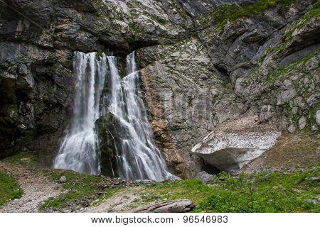Abkhazia, A Beautiful Gegsky Waterfall.