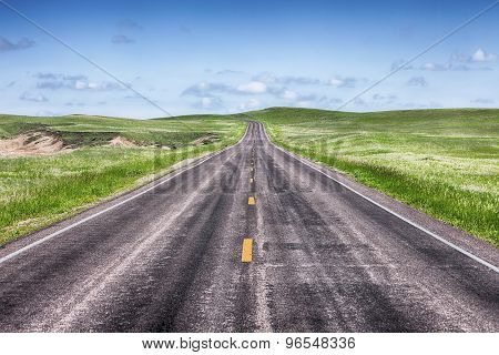 Open Highway On The Prairie