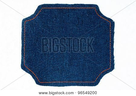 Figured Frame Of Denim  With Place For Your Text
