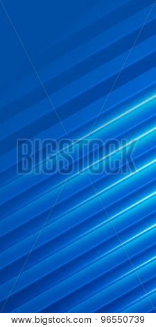 Cover Page Brochure Flyer Blue Glowing Background