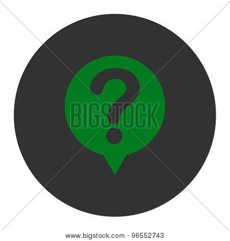 Status flat green and gray colors round button