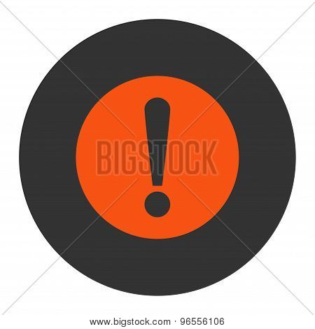 Problem flat orange and gray colors round button