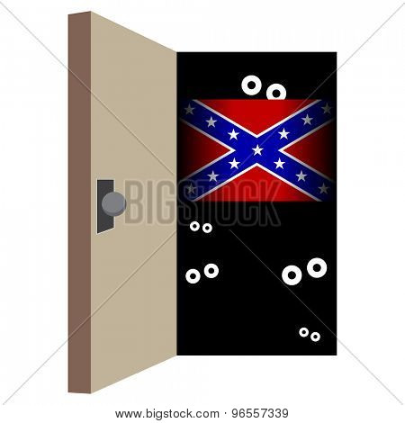 An image representing closeted support for the Confederate flag.