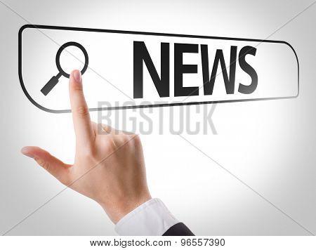 News written in search bar on virtual screen
