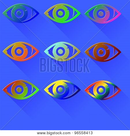 Colored Eye Icon