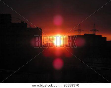 Sunset: City Night Landscape