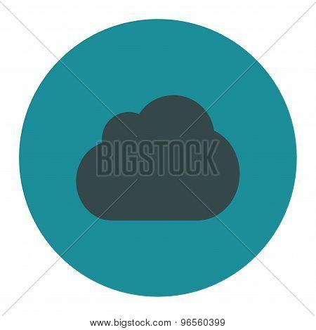 Cloud flat soft blue colors round button