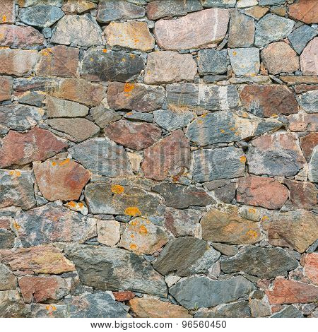 Old Medieval Stone Wall Background Texture