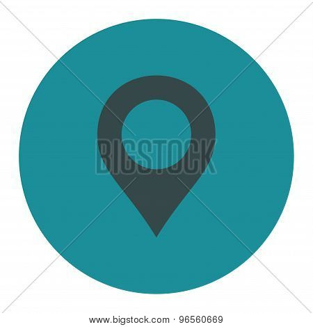 Map Marker flat soft blue colors round button