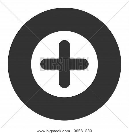 Create flat white and gray colors round button