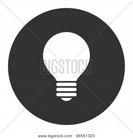 Electric Bulb flat white and gray colors round button