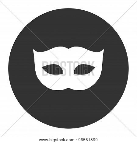 Privacy Mask flat white and gray colors round button