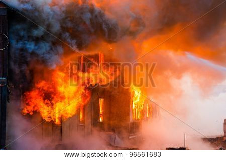 Fire In A House