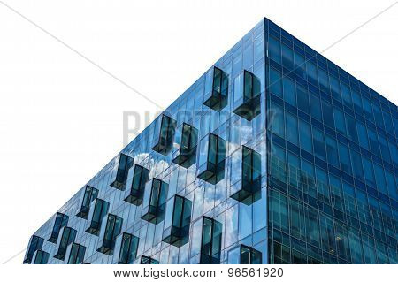 Modern Glass Office Building Isolated On White