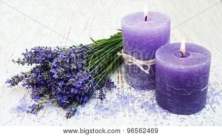 Candle, Lavender And Sea Salt