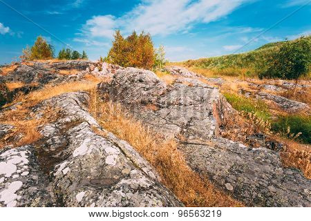 Rocky Landscape Near Helsinki, Nature Of Finland