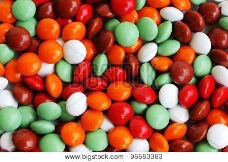 Colorful candy background closeup