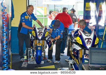 Rome, Italy - September 30 2007. Superbike Championship, Max Neukirchner Box
