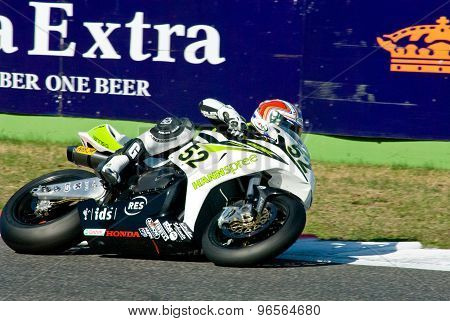 Rome, Italy - September 30 2007. Superbike Championship, Vallelunga Circuit. James Toseland