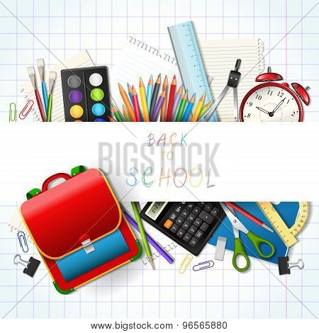 Back To School Background With Supplies Tools