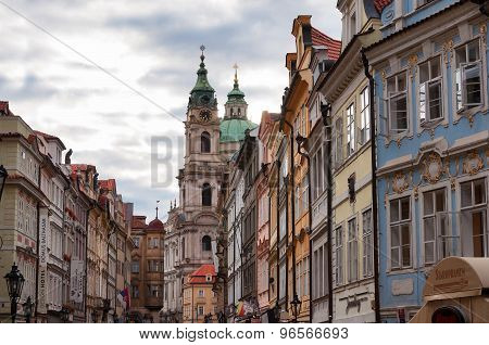 City view on old european buildings in Prague, Czech Republic, Europe
